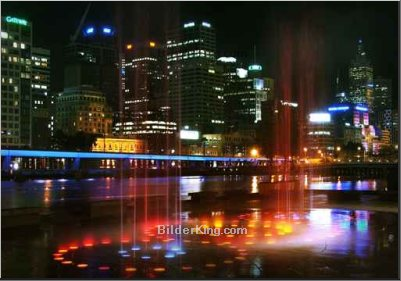 Leinwandbild - bluekapuk : melbourne city night