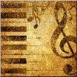 canvas pictures musical background in golden colors