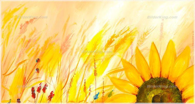 Wandbild mia morro sonnenblumen wandbilder leinwanddruck keilrahmenbilder kunstdruck - Wandbilder keilrahmenbilder ...