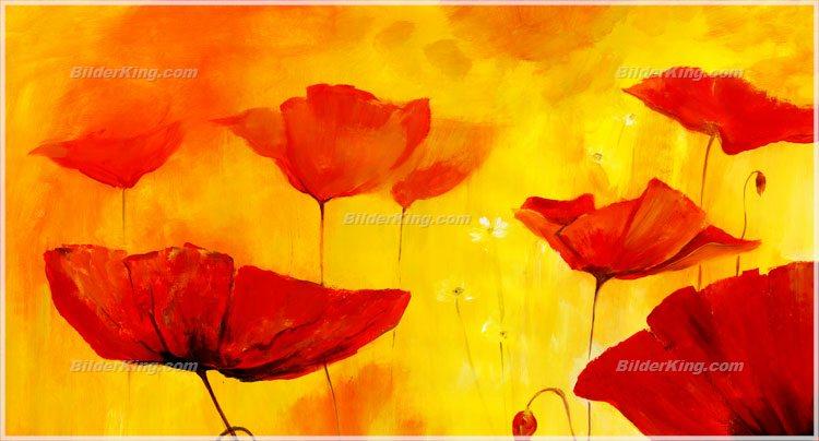 Wandbild mia morro roter mohn wandbilder leinwanddruck keilrahmenbilder kunstdruck - Wandbilder keilrahmenbilder ...