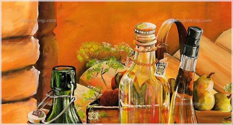 Detail: Mural - Mia Morro : vinegar and oil still life