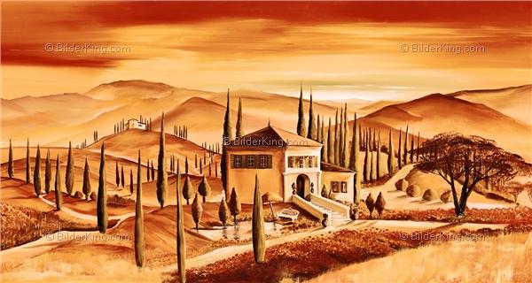Wandbild mia morro toskana abend wandbilder leinwanddruck keilrahmenbilder kunstdruck - Wandbilder keilrahmenbilder ...