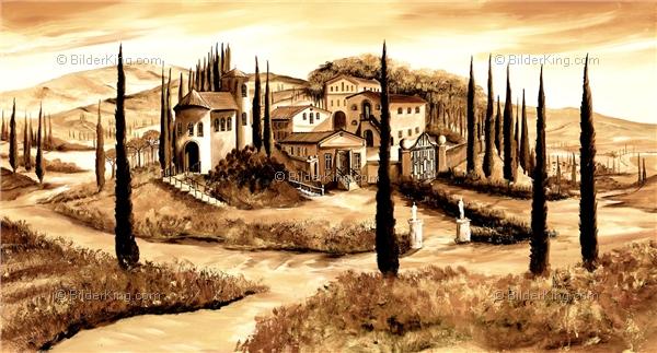 Wandbild mia morro toskana italien wandbilder - Mediterrane wandbilder ...