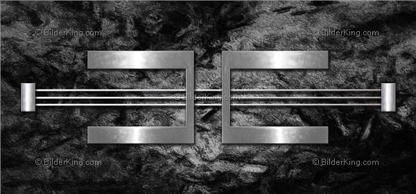 Wandbild jack dyrell silber metall auf granit wandbilder leinwanddruck keilrahmenbilder - Metall wandbilder ...