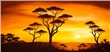Wandbild Chanel Simon - African Sunset