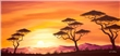 Wandbild Chanel Simon - Sunset Africa