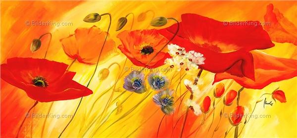 Wandbild mia morro frische mohnblumen wandbilder leinwanddruck keilrahmenbilder - Wandbilder keilrahmenbilder ...