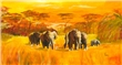 mural Mia Morro - Elephants in Africa