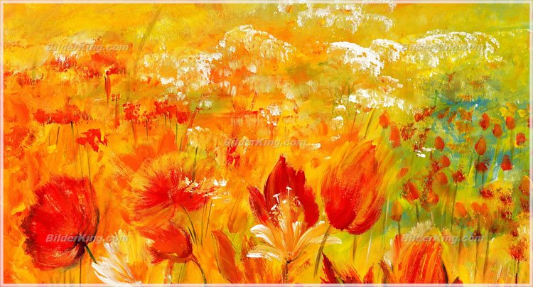 Wandbild mia morro blumenmeer wandbilder leinwanddruck keilrahmenbilder kunstdruck - Wandbilder keilrahmenbilder ...