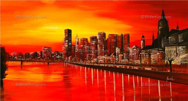 Wandbild mia morro frankfurt skyline wandbilder leinwanddruck keilrahmenbilder - Wandbilder keilrahmenbilder ...