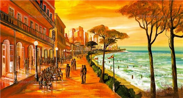 Wandbild mia morro miami strandpromenade wandbilder leinwanddruck keilrahmenbilder - Wandbilder kuchenmotive ...