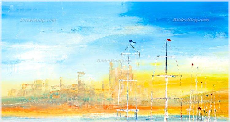 Wandbild mia morro segelboote im hafen wandbilder leinwanddruck keilrahmenbilder - Wandbilder keilrahmenbilder ...