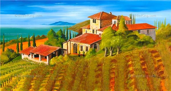 Wandbild mia morro villa mallorca wandbilder leinwanddruck keilrahmenbilder kunstdruck - Mediterrane wandbilder ...