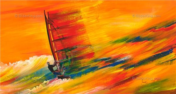 wandbild mia morro wind surfen wandbilder leinwanddruck keilrahmenbilder kunstdruck. Black Bedroom Furniture Sets. Home Design Ideas