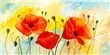 Wandbild Mia Morro - Poppy Colors