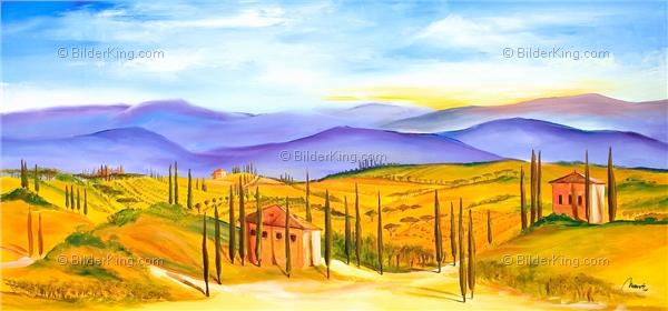 Wandbild mia morro toskana farben wandbilder leinwanddruck keilrahmenbilder kunstdruck - Wandbilder keilrahmenbilder ...