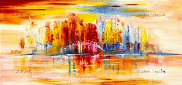 Wandbild mia morro new york skyline wandbilder - Gemalte wandbilder ...