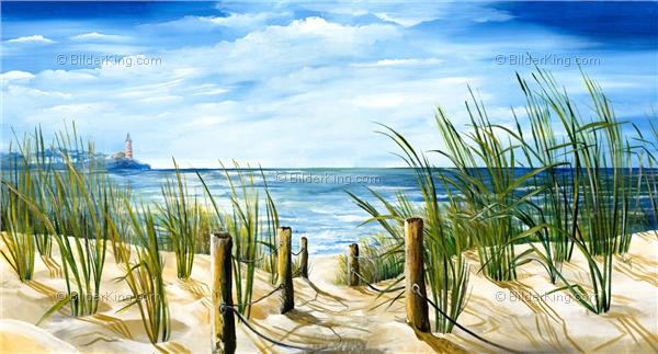 Wandbild mia morro weg zum strand wandbilder leinwanddruck keilrahmenbilder kunstdruck - Wandbilder malen motive ...