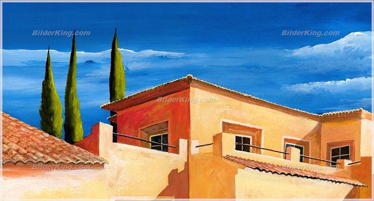 Wandbild mia morro mediterrane villa mit pool - Mediterrane wandbilder ...