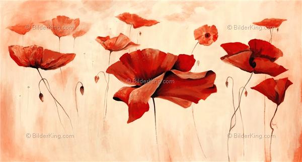Wandbild mia morro wilde mohnblumen wandbilder leinwanddruck keilrahmenbilder - Wandbilder keilrahmenbilder ...