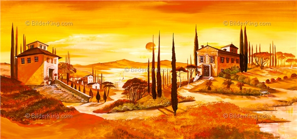 Wandbild mia morro toscana live wandbilder - Mediterrane wandbilder ...