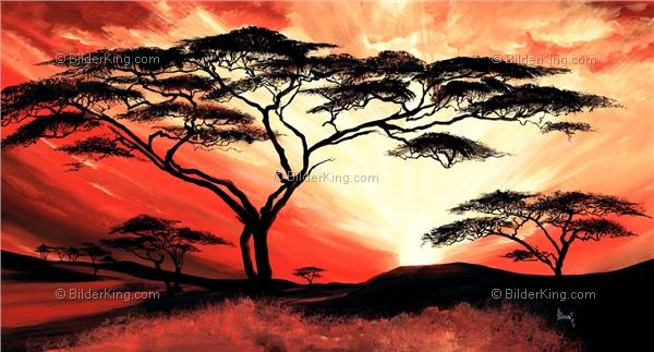 Wandbild mia morro gro artige afrikanische sonne - Gemalte wandbilder ...