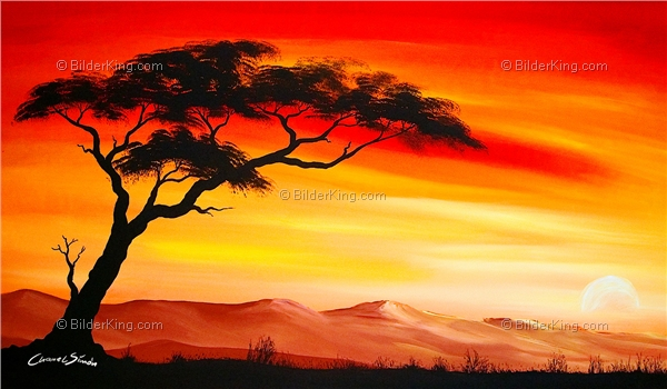 Mural - Chanel Simon : Sunset in Africa